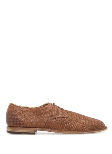 Pantanetti %100 Deri Bağcıklı Klasik Ayakkabı Kahve
